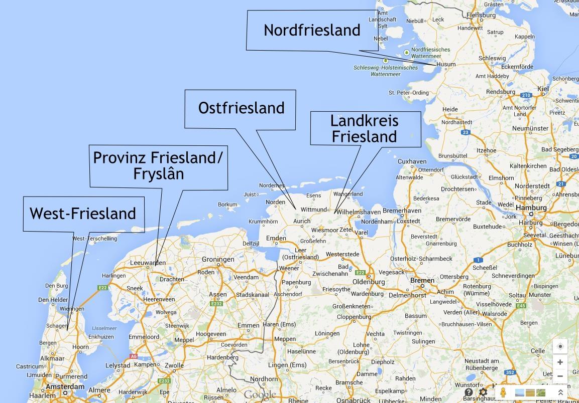 friesland karte deutschland Wo liegt Ostfriesland? – Gedankensprünge